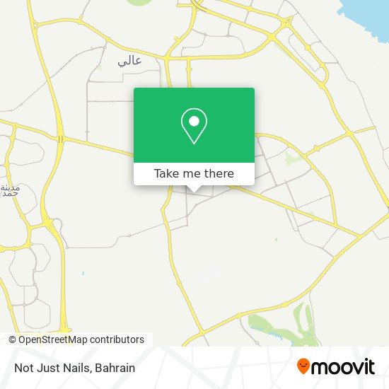 Not Just Nails map