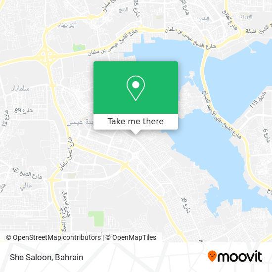 She Saloon map