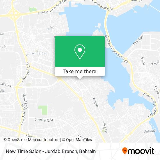 New Time Salon - Jurdab Branch map
