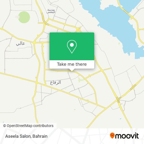 Aseela Salon map