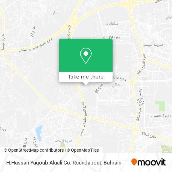 H.Hassan Yaqoub Alaali Co. Roundabout map