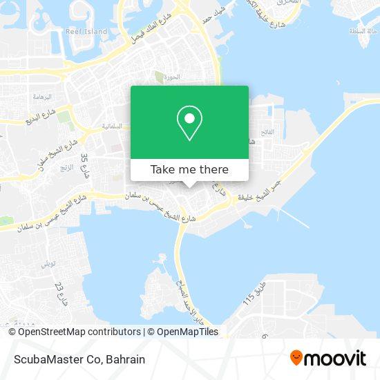 ScubaMaster Co map