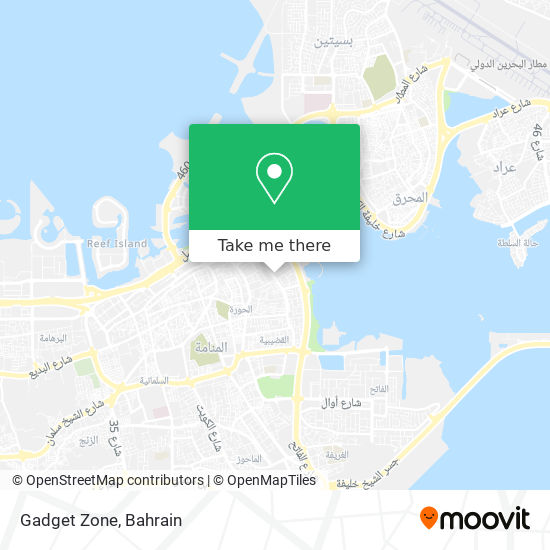 Gadget Zone map