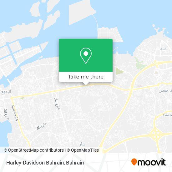 Harley-Davidson Bahrain map