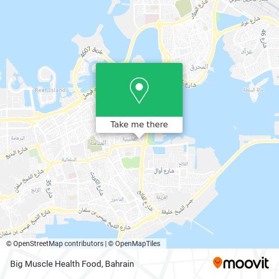 Big Muscle Health Food map