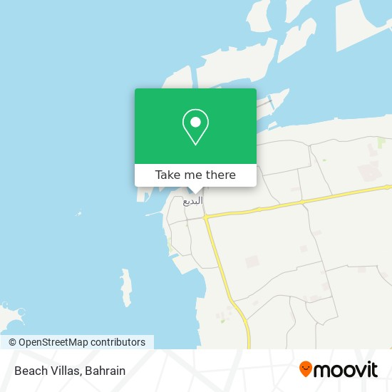 Beach Villas map