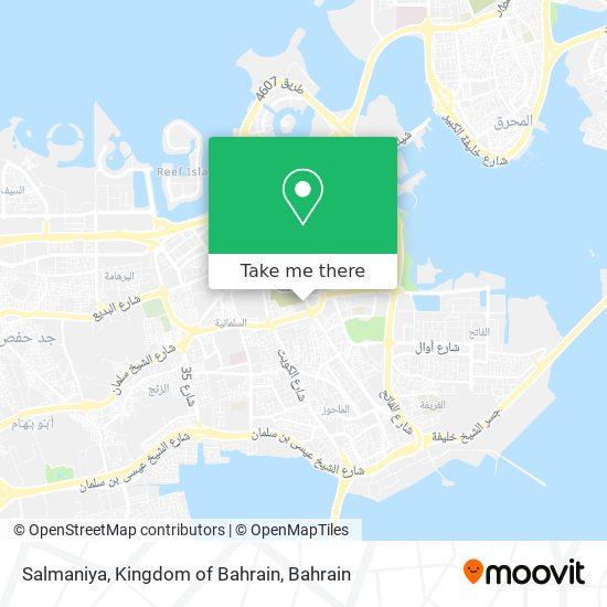 Salmaniya, Kingdom of Bahrain map