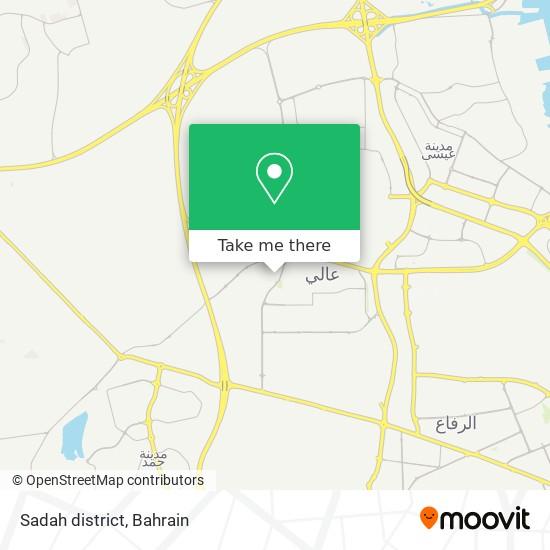 Sadah district map