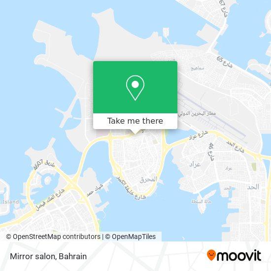 Mirror salon map