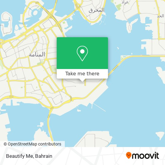 Beautify Me map