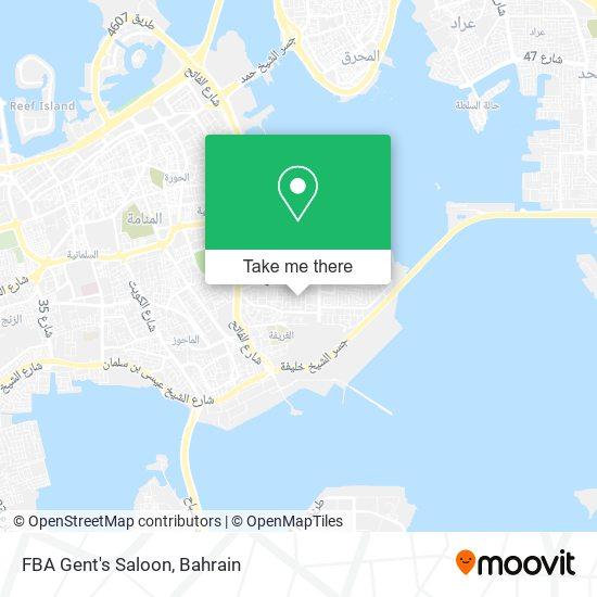FBA Gent's Saloon map