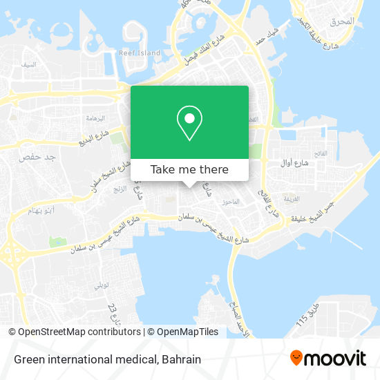 Green international medical map