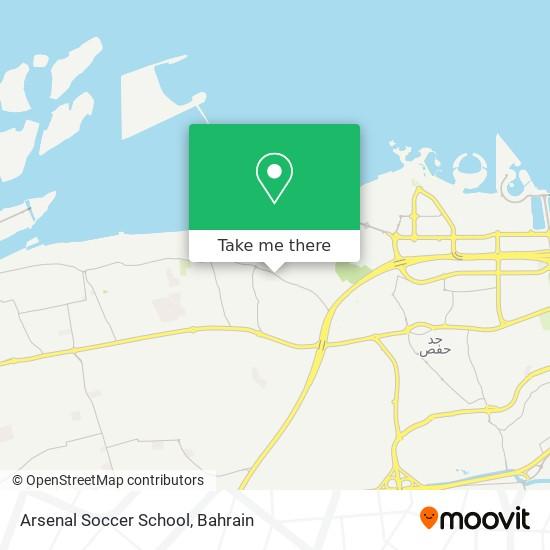 Arsenal Soccer School map