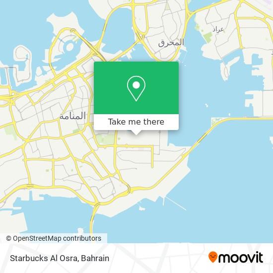 Starbucks Al Osra map