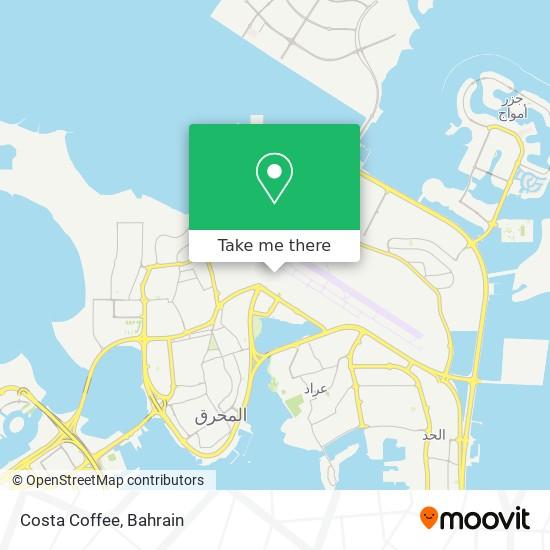 Costa Coffee map