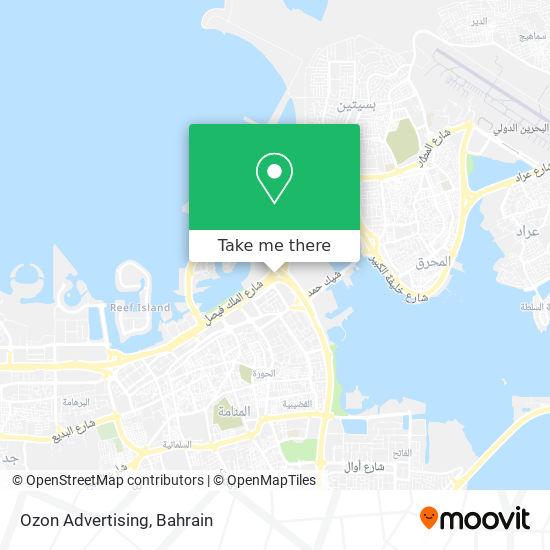 Ozon Advertising map