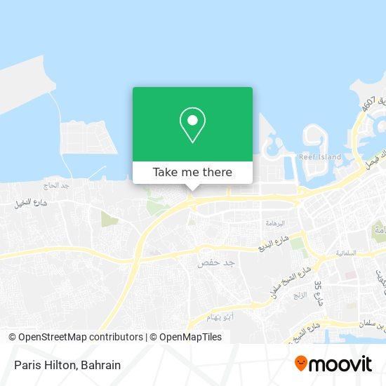 Paris Hilton map