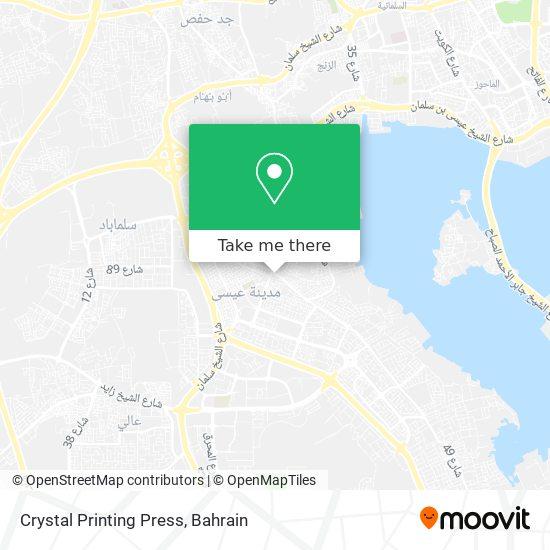 Crystal Printing Press map