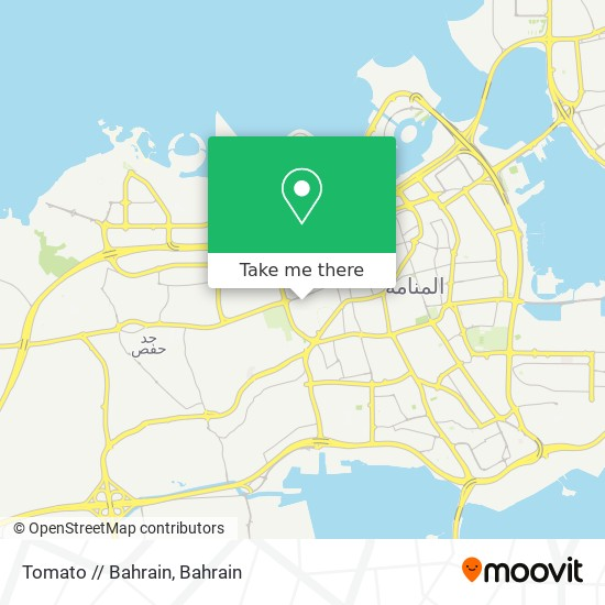 Tomato // Bahrain map
