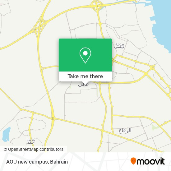 AOU new campus map