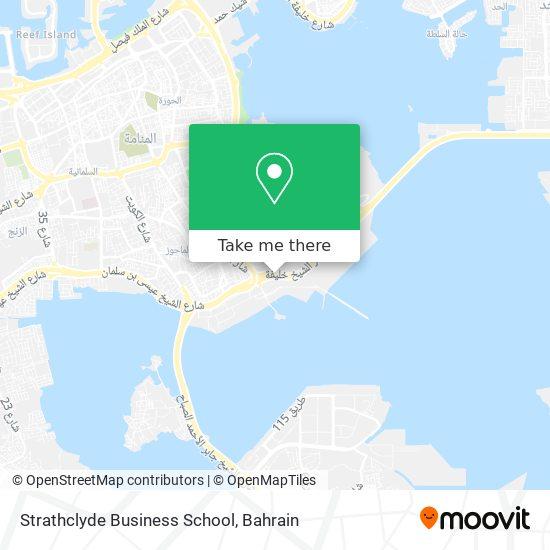 Strathclyde Business School map