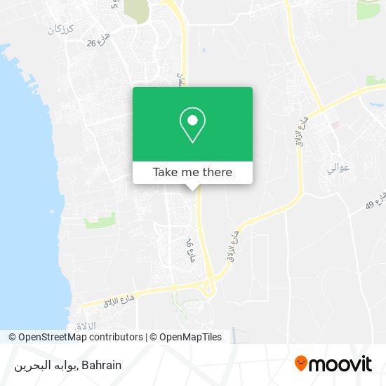 بوابه البحرين map