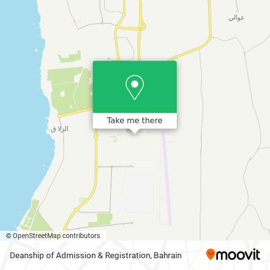 Deanship of Admission & Registration map