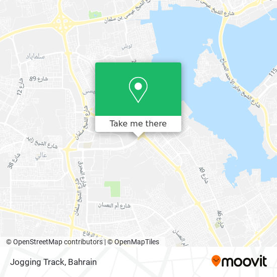Jogging Track map