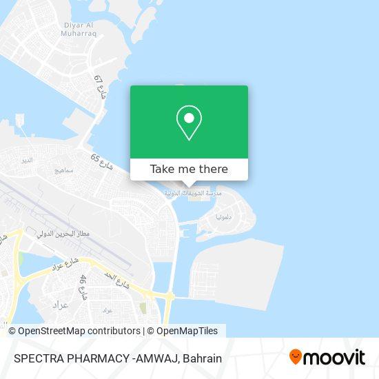 SPECTRA PHARMACY -AMWAJ map