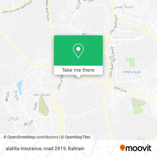 alahlia insurance, road 2819 map