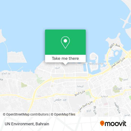 UN Environment map