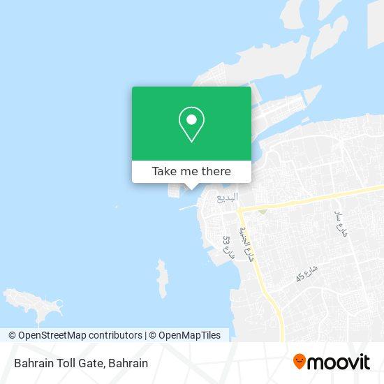 Bahrain Toll Gate map