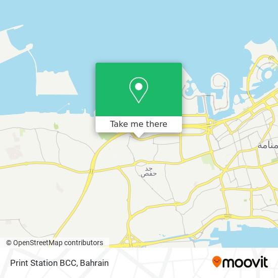 Print Station BCC map
