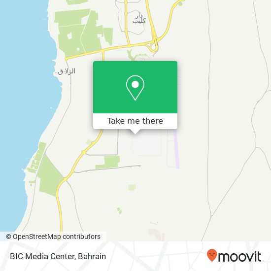 BIC Media Center map