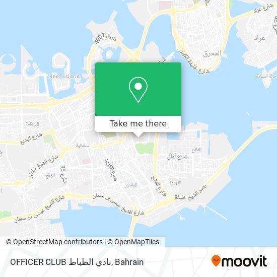 OFFICER CLUB نادي الظباط map