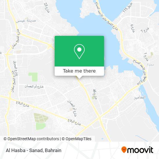 Al Hasba - Sanad map