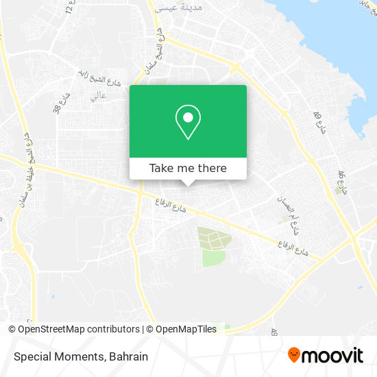 Special Moments map