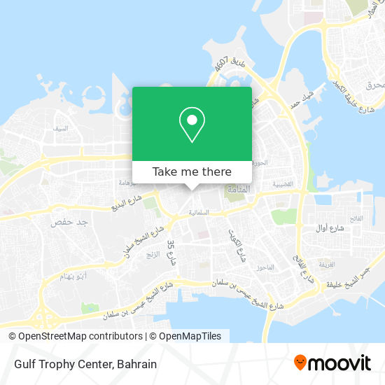 Gulf Trophy Center map