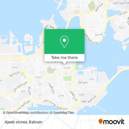 Ajeeb stores map