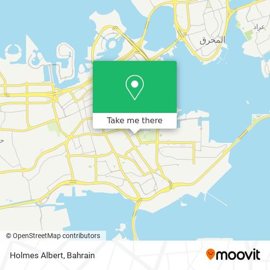 Holmes Albert map