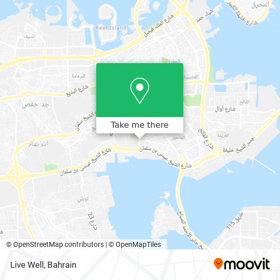 Live Well map