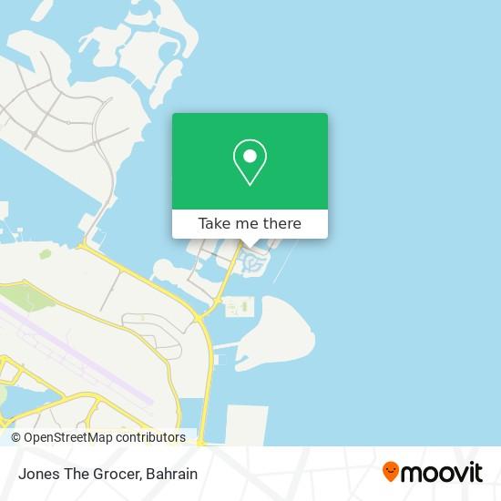 Jones The Grocer map