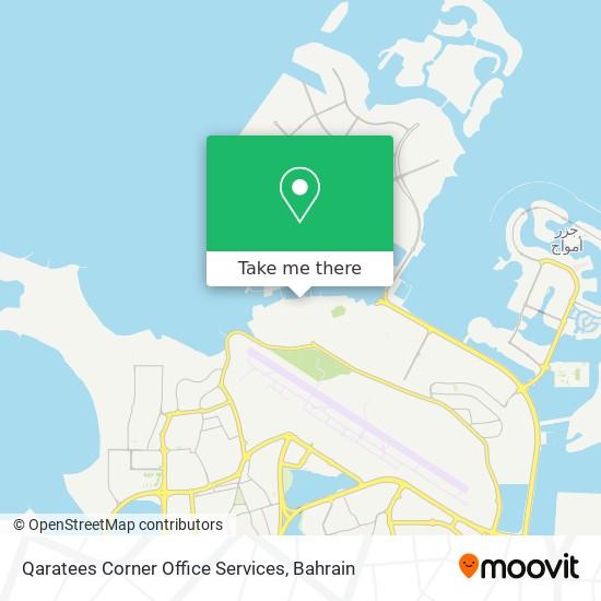 Qaratees Corner Office Services map