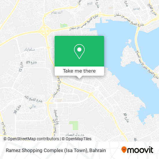 Ramez Shopping Complex (Isa Town) map