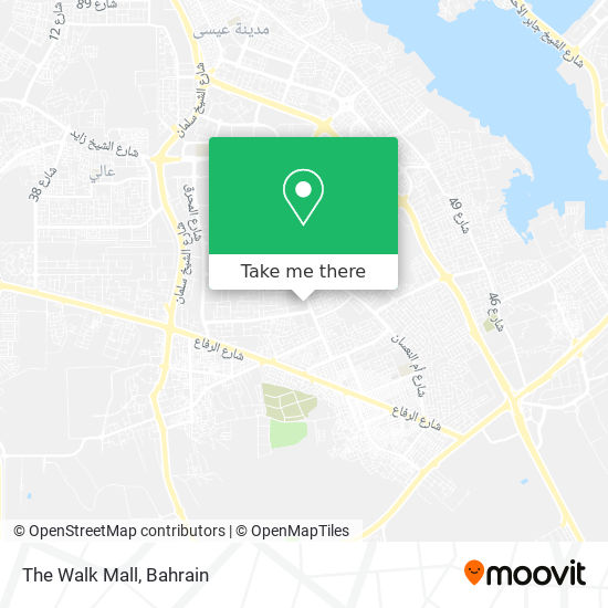 The Walk Mall map