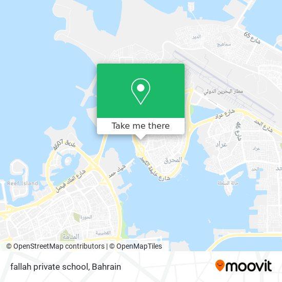 fallah private school map