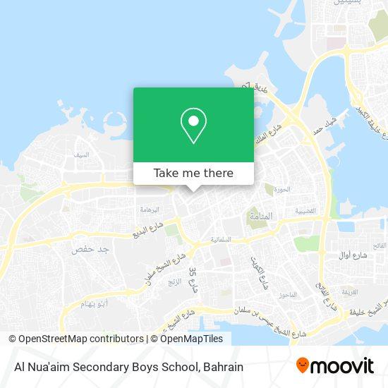 Al Nua'aim Secondary Boys School map