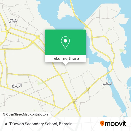 Al Ta'awon Secondary School map