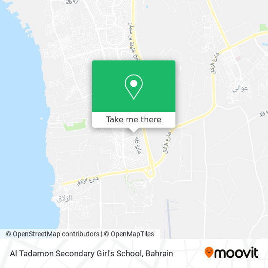 Al Tadamon Secondary Girl's School map