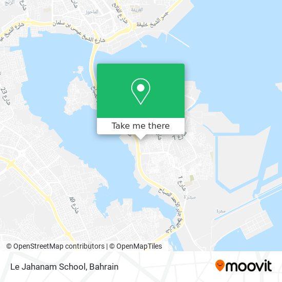 Le Jahanam School map